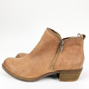 Lucky Brand Bartalino leather zip ankle booties